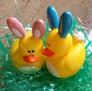 Rubber Ducky Easter Bunnies