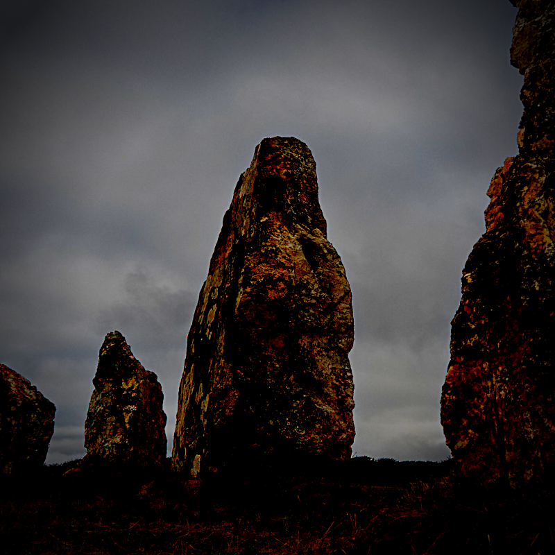 Samhain Magick glowing menhirs